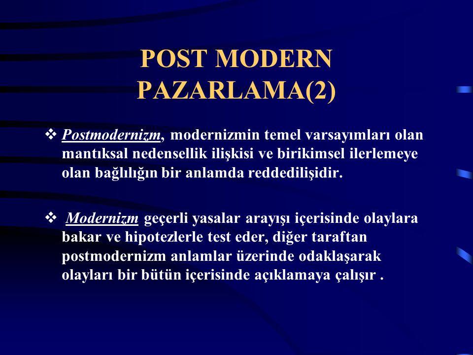 POST MODERN PAZARLAMA(2)
