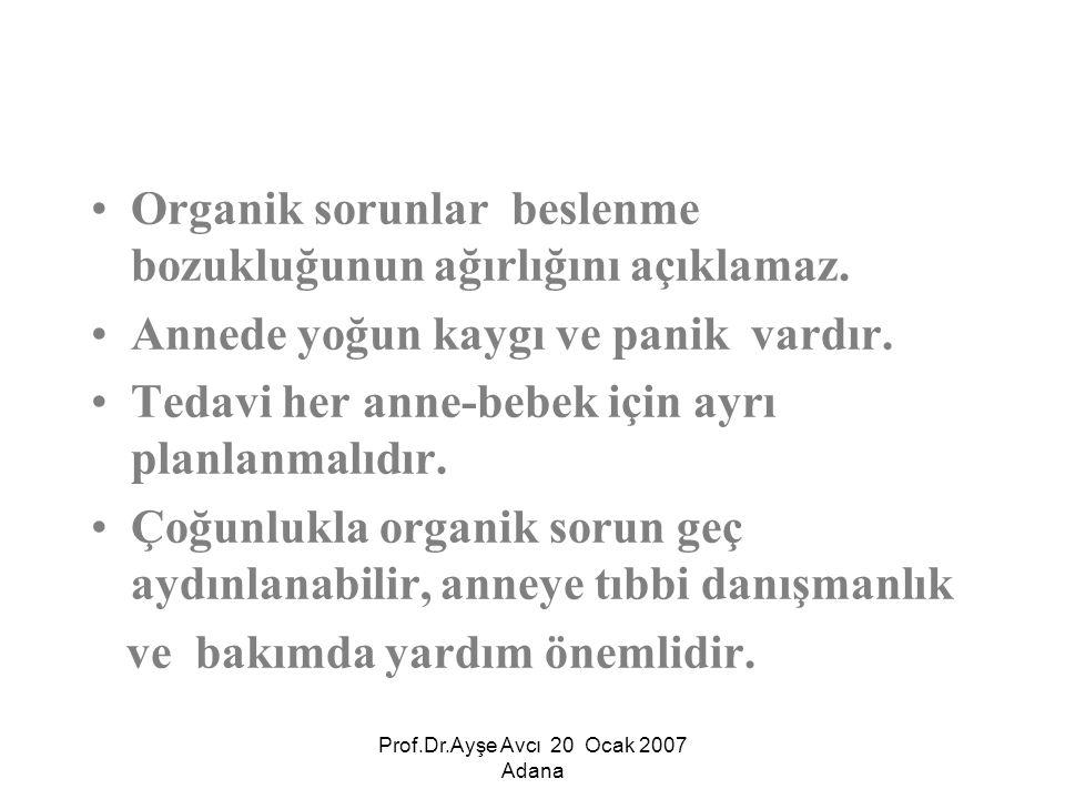 Prof.Dr.Ayşe Avcı 20 Ocak 2007 Adana
