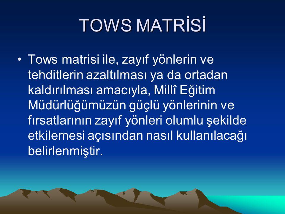 TOWS MATRİSİ