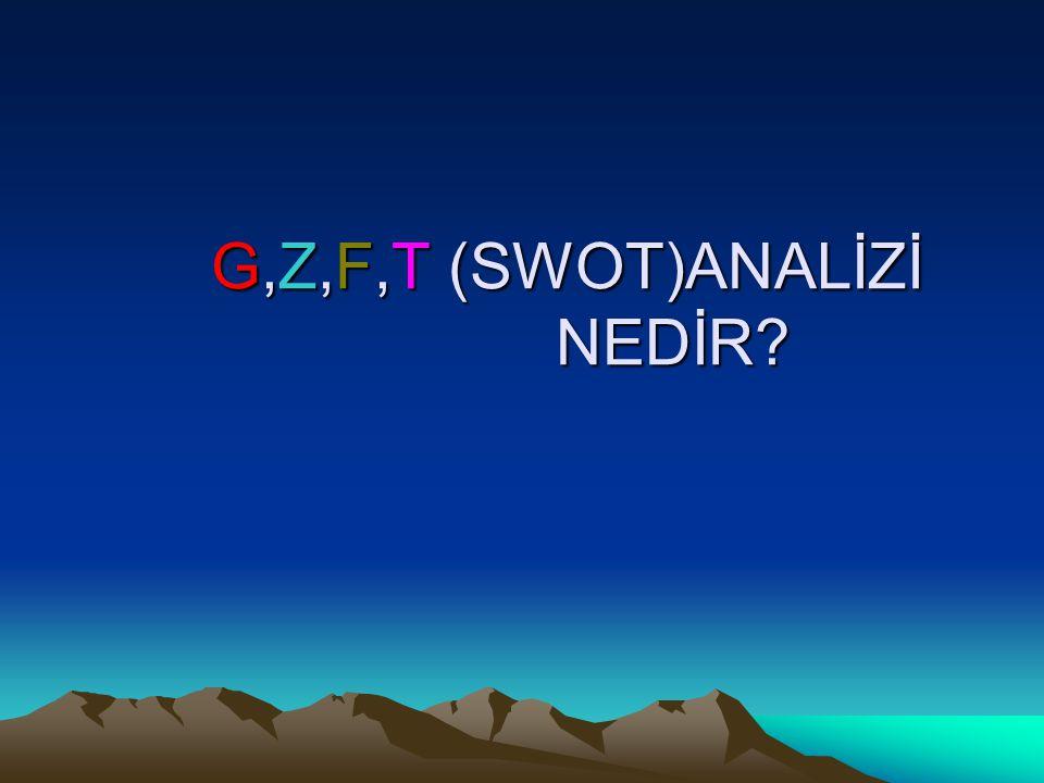G,Z,F,T (SWOT)ANALİZİ NEDİR