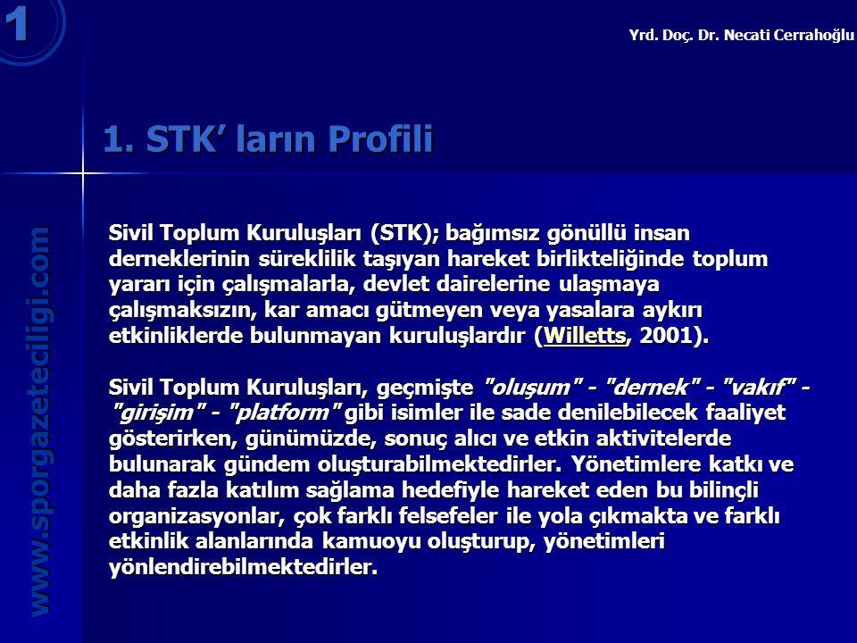 1 1. STK' ların Profili www.sporgazeteciligi.com