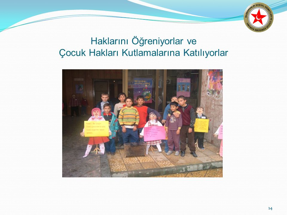 Haklarını Öğreniyorlar ve Çocuk Hakları Kutlamalarına Katılıyorlar