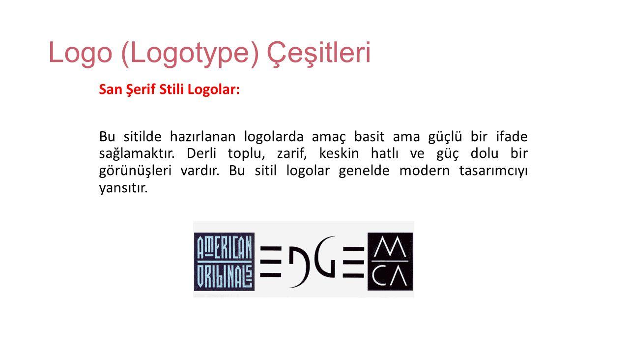 Logo (Logotype) Çeşitleri