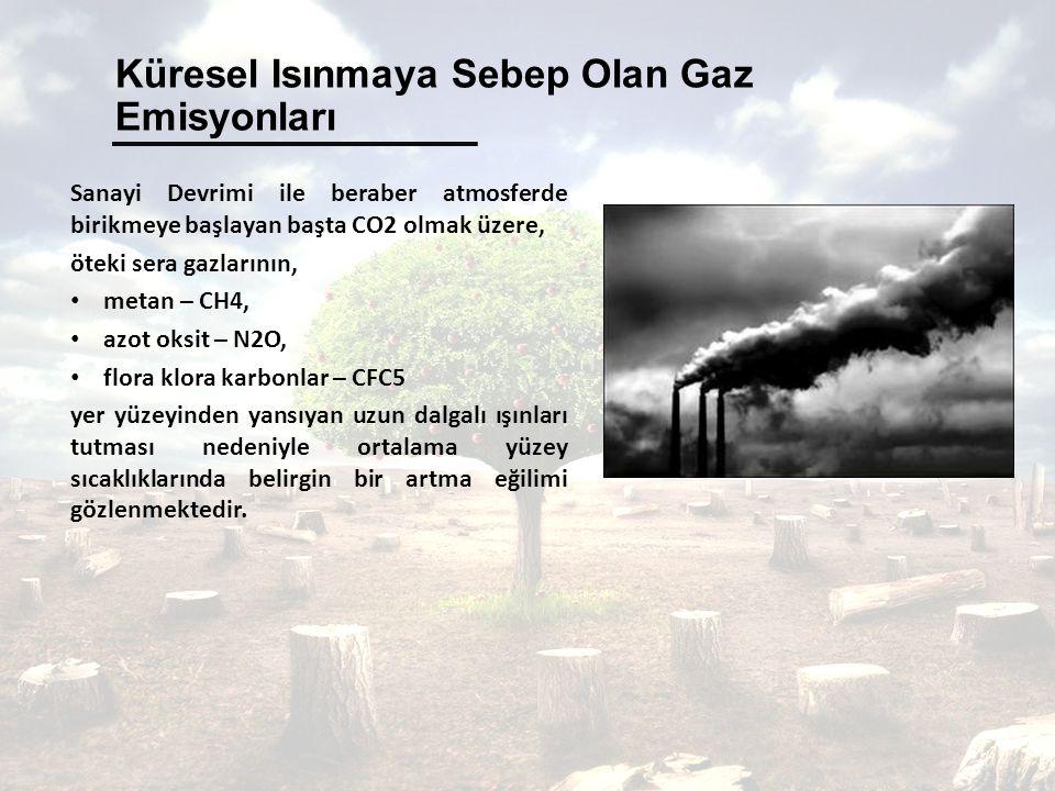 Küresel Isınmaya Sebep Olan Gaz Emisyonları