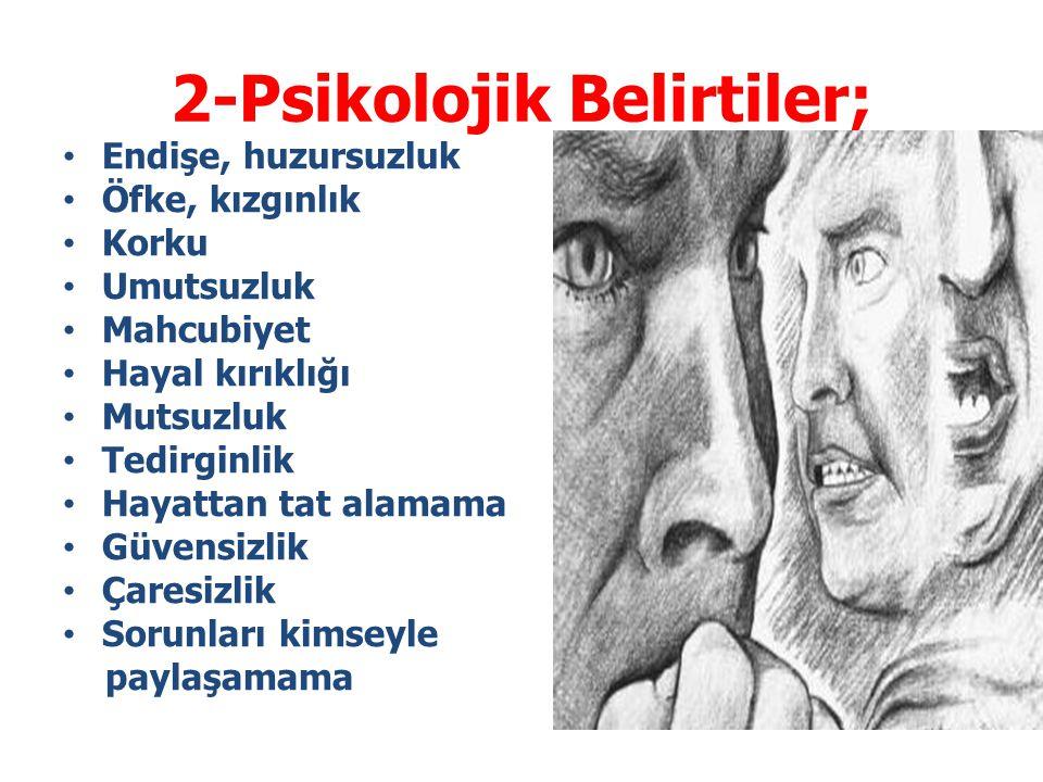 2-Psikolojik Belirtiler;