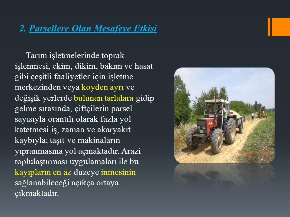 2. Parsellere Olan Mesafeye Etkisi