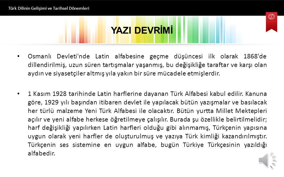 Türk Dilinin Gelişimi ve Tarihsel Dönemleri