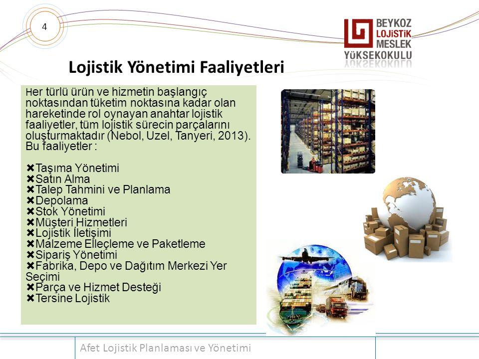 Lojistik Yönetimi Faaliyetleri