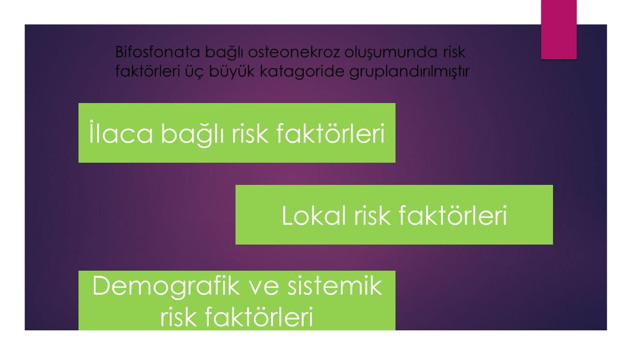 İlaca bağlı risk faktörleri