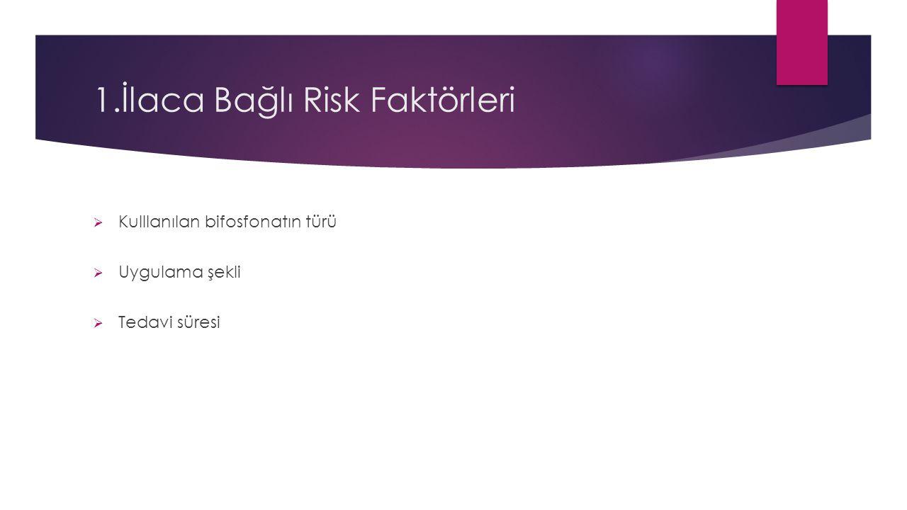1.İlaca Bağlı Risk Faktörleri