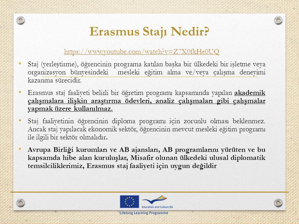 Erasmus Stajı Nedir https://www.youtube.com/watch v=Z7X0fkHe0UQ