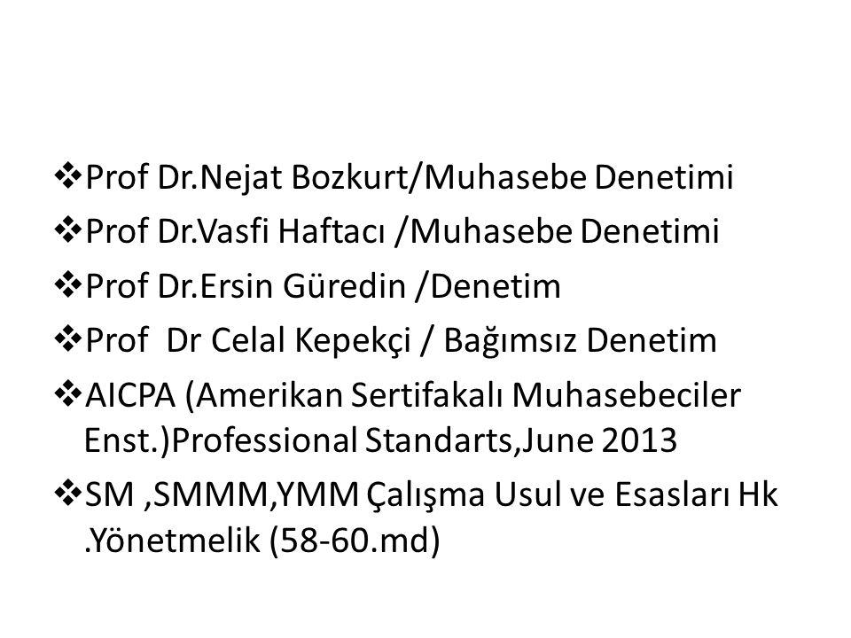 Prof Dr.Nejat Bozkurt/Muhasebe Denetimi