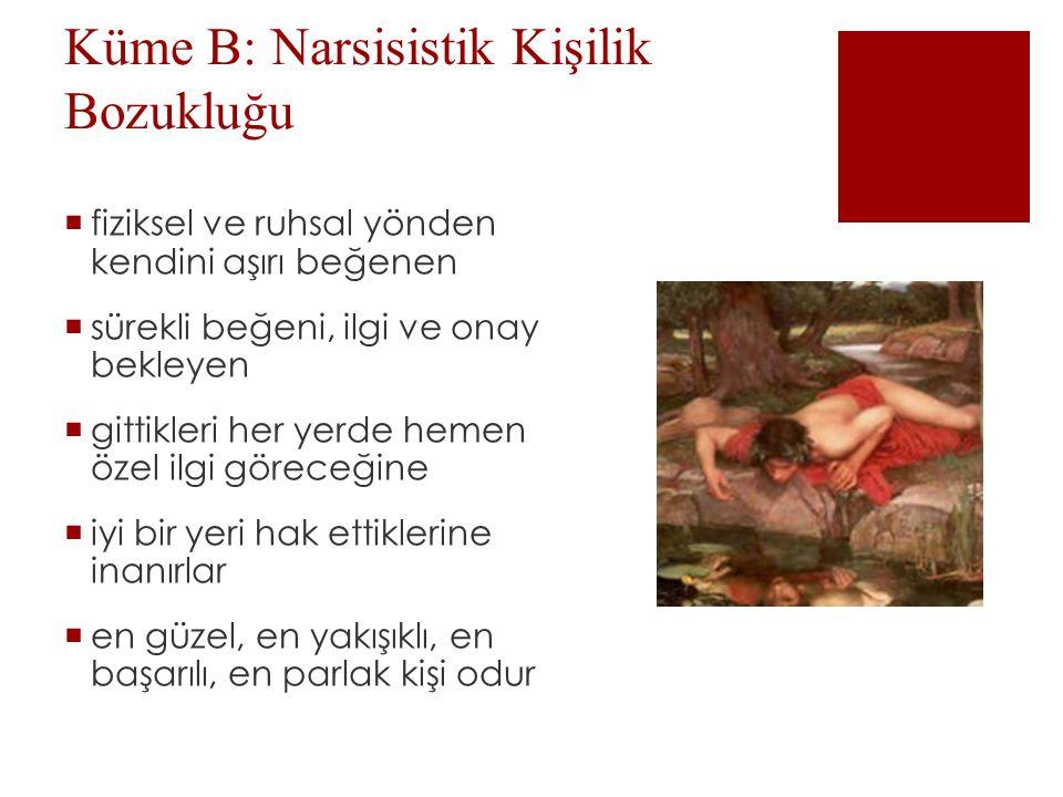 Küme B: Narsisistik Kişilik Bozukluğu