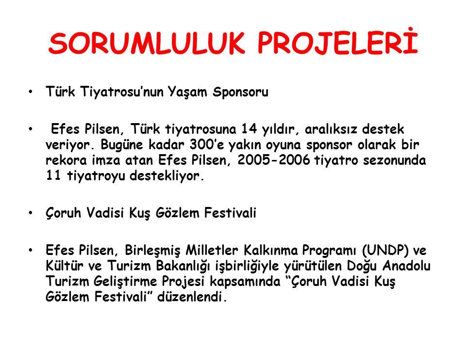 SORUMLULUK PROJELERİ Türk Tiyatrosu'nun Yaşam Sponsoru