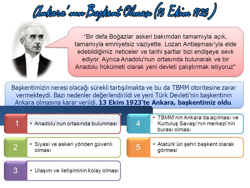Ankara neden başkent seçilmiştir