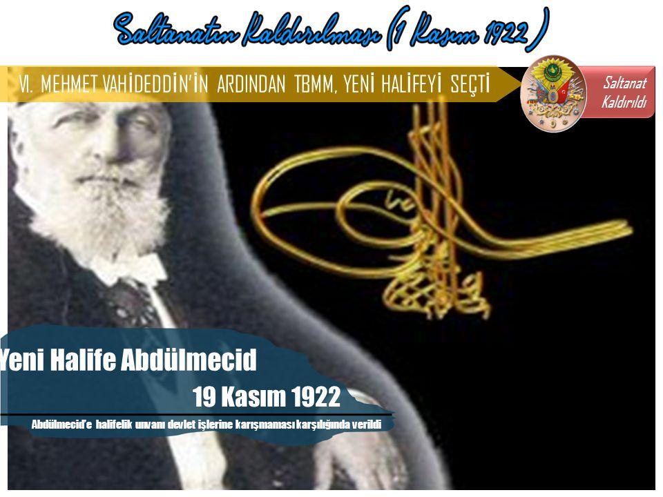 Yeni Halife Abdülmecid