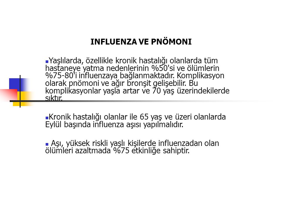 INFLUENZA VE PNÖMONI
