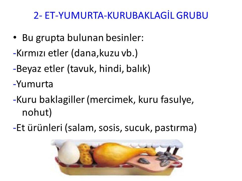 2- ET-YUMURTA-KURUBAKLAGİL GRUBU