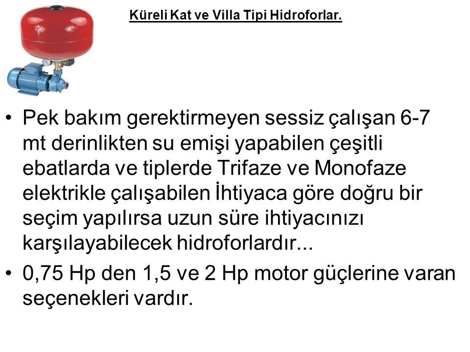 Küreli Kat ve Villa Tipi Hidroforlar.