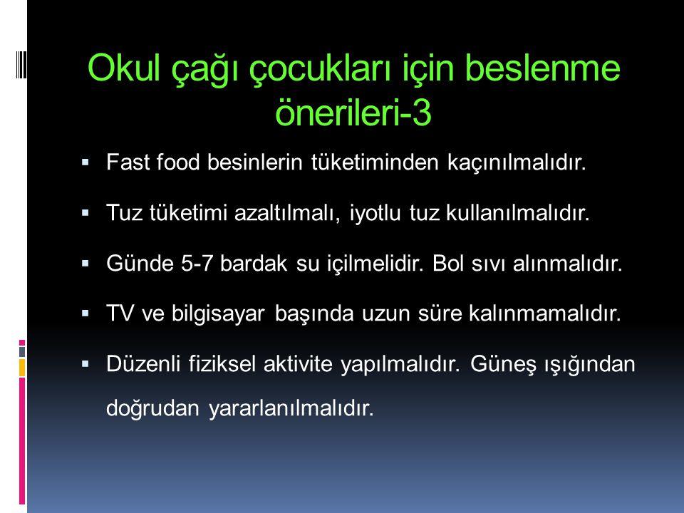 Okul çağı çocukları için beslenme önerileri-3