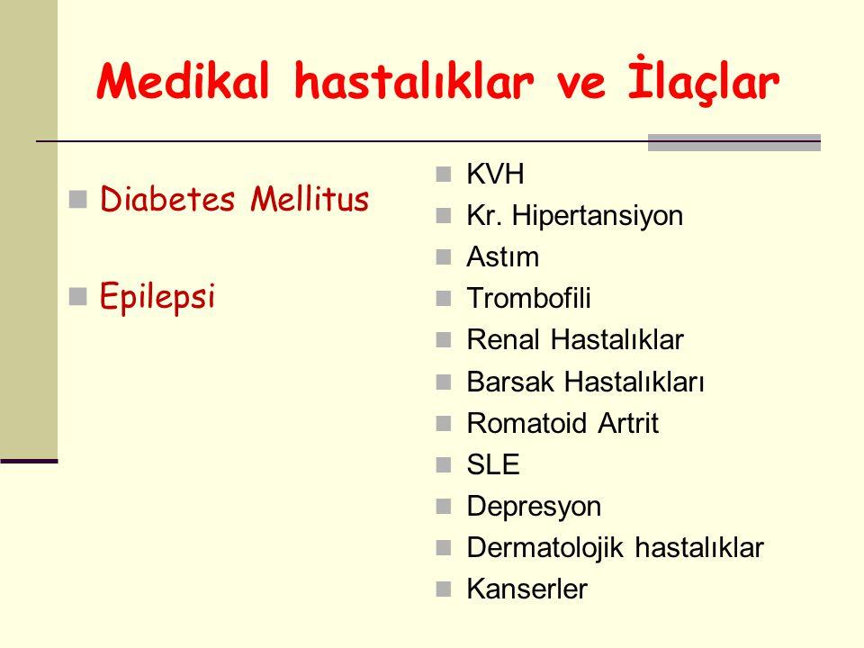 Medikal hastalıklar ve İlaçlar
