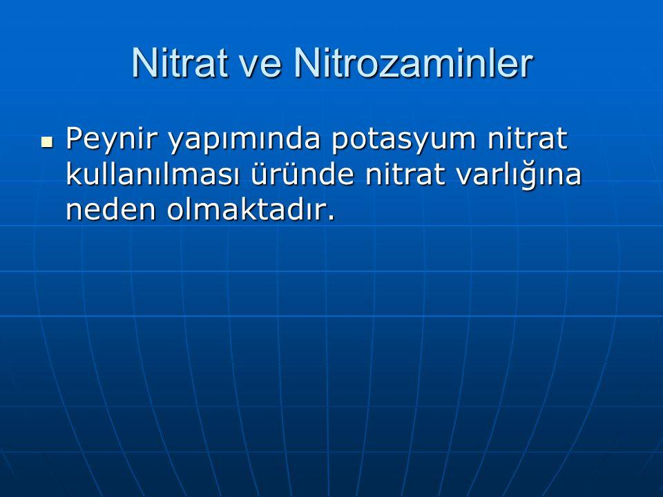 Nitrat ve Nitrozaminler