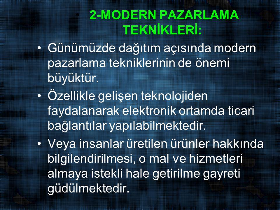 2-MODERN PAZARLAMA TEKNİKLERİ: