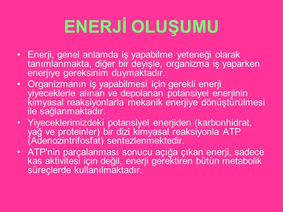 ENERJİ OLUŞUMU