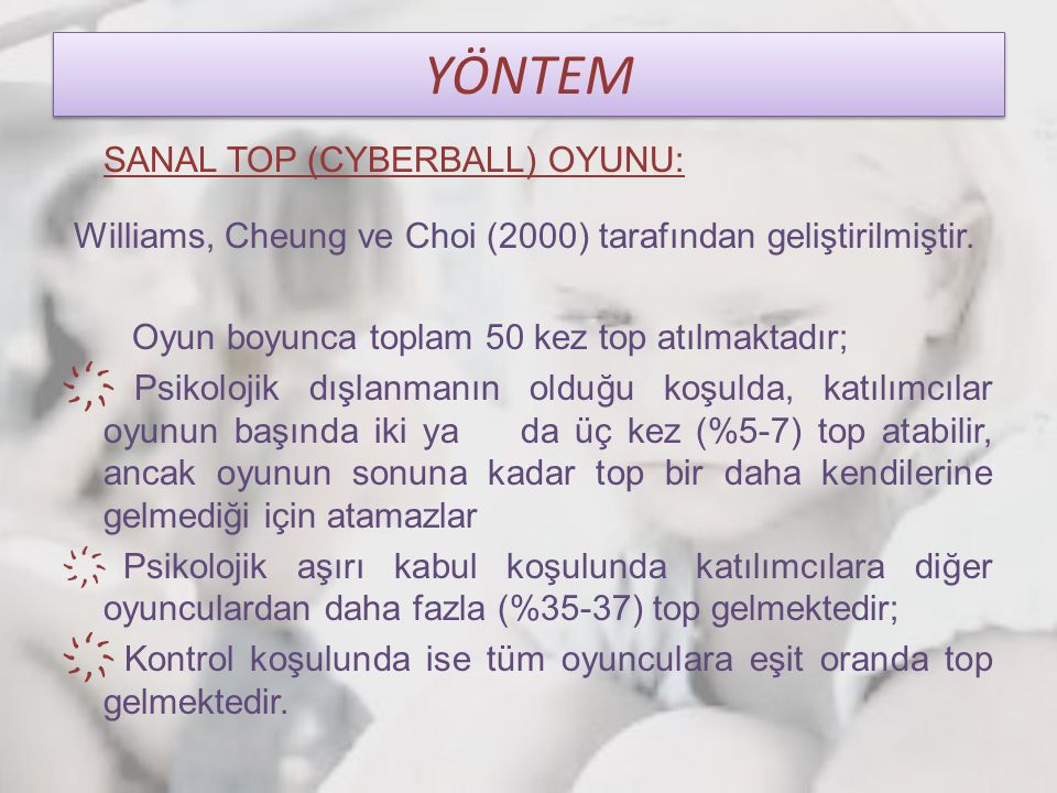 YÖNTEM SANAL TOP (CYBERBALL) OYUNU: