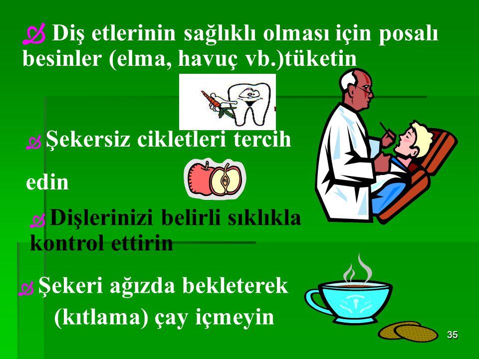 Diş etlerinin sağlıklı olması için posalı besinler (elma, havuç vb