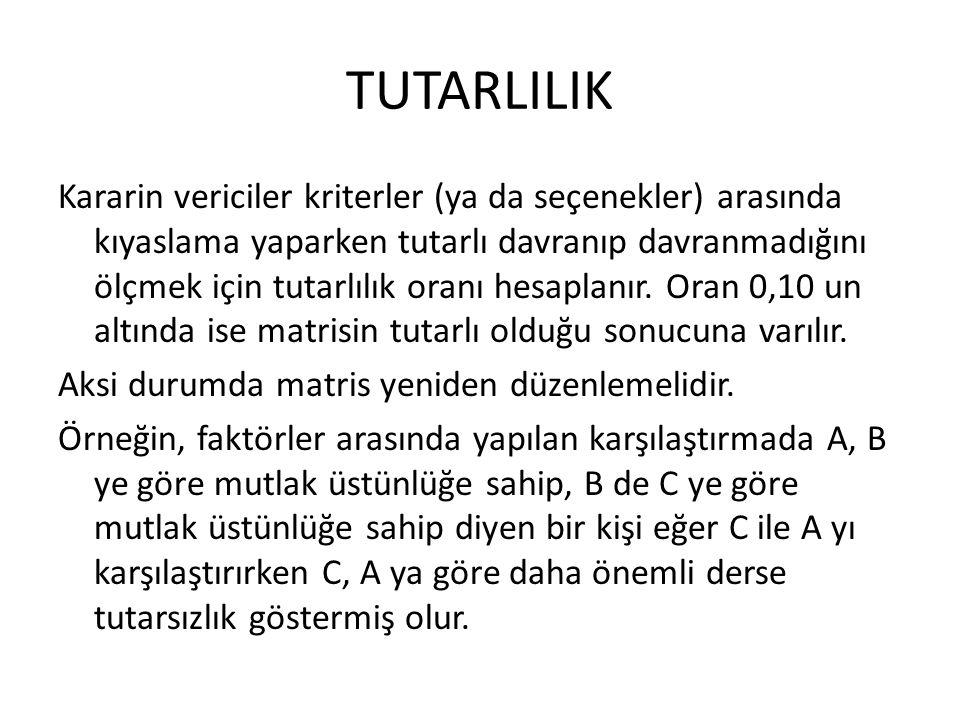 TUTARLILIK