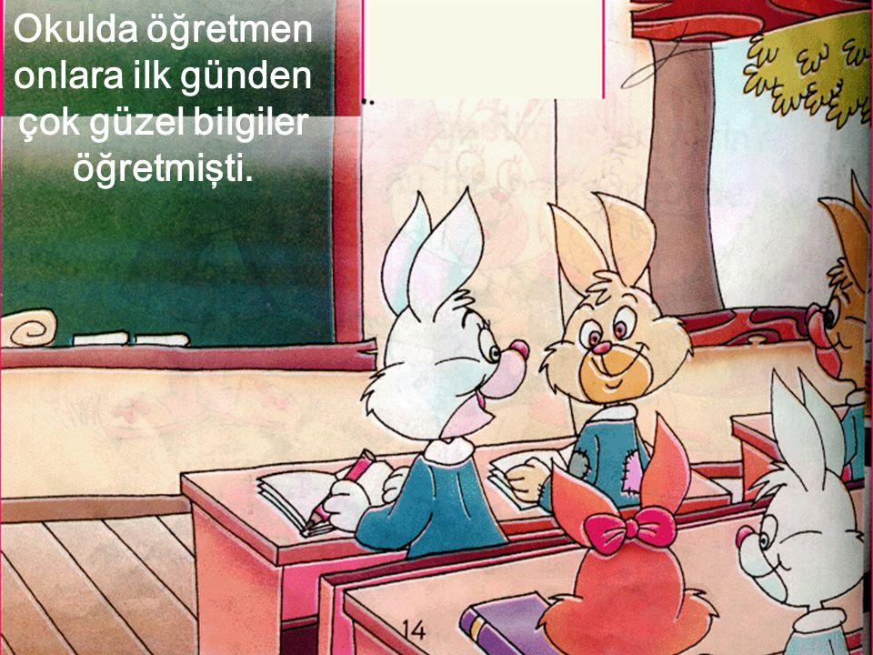 Okulda öğretmen onlara ilk günden çok güzel bilgiler öğretmişti.
