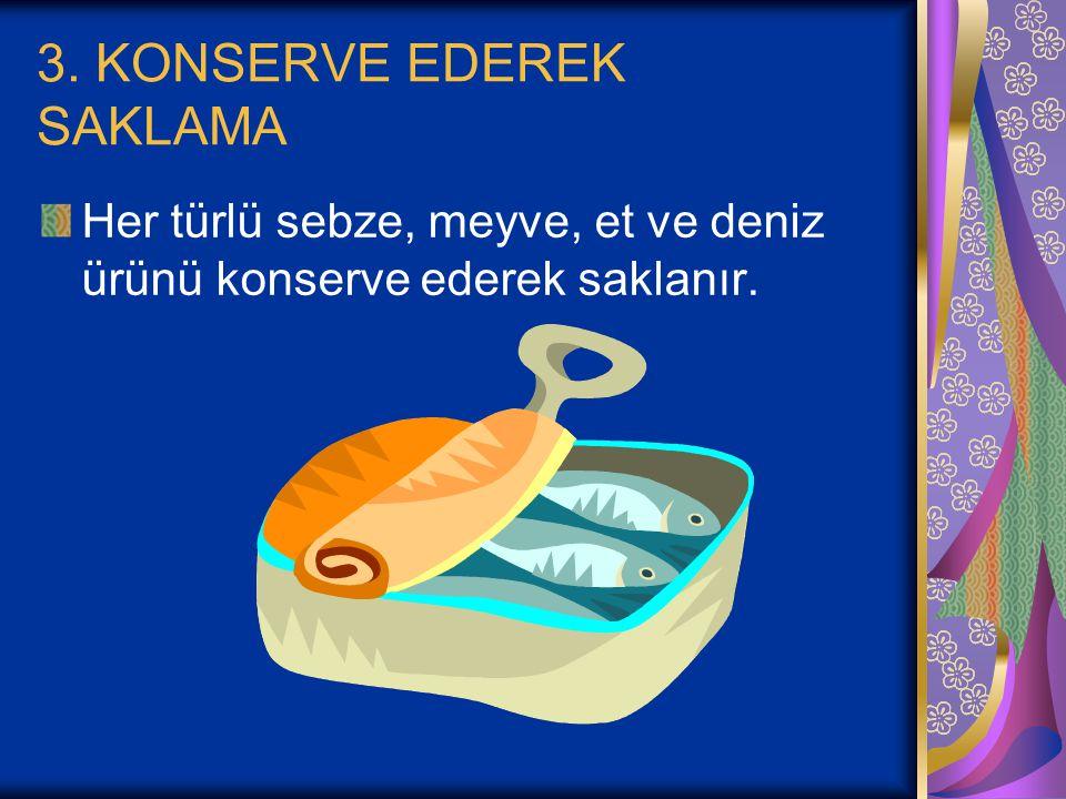 3. KONSERVE EDEREK SAKLAMA