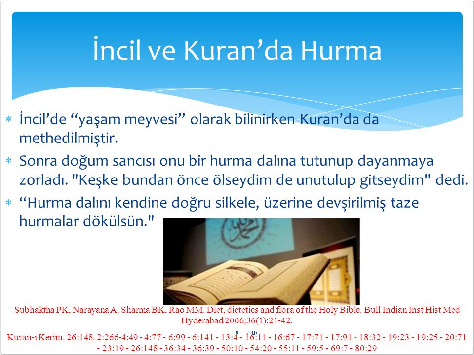 İncil ve Kuran'da Hurma