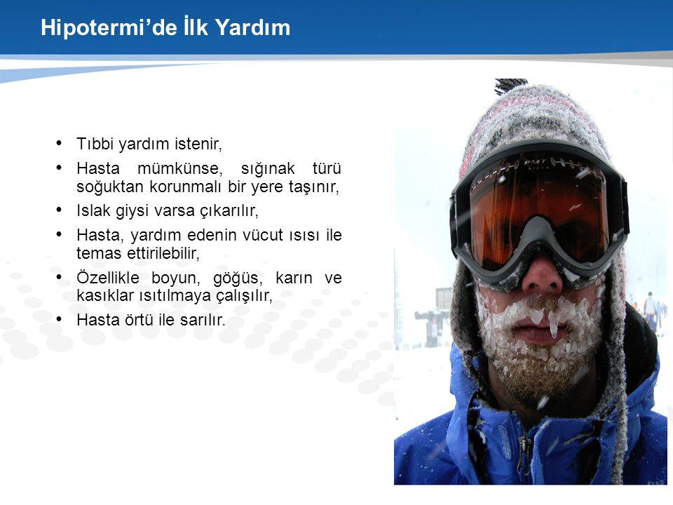 Hipotermi'de İlk Yardım