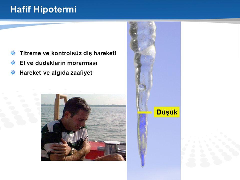 Hafif Hipotermi Düşük Titreme ve kontrolsüz diş hareketi
