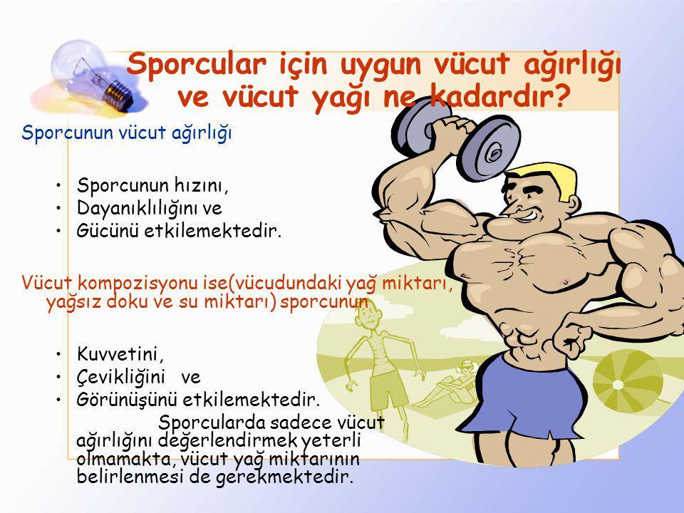 Sporcular için uygun vücut ağırlığı ve vücut yağı ne kadardır