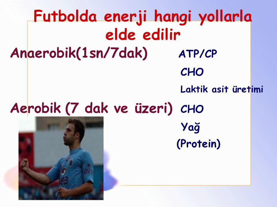 Futbolda enerji hangi yollarla elde edilir