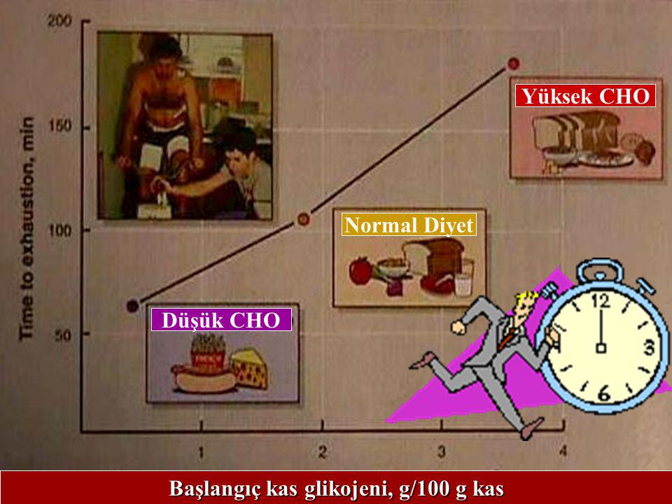 Başlangıç kas glikojeni, g/100 g kas
