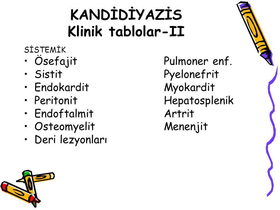 KANDİDİYAZİS Klinik tablolar-II