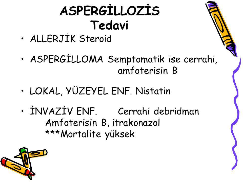 ASPERGİLLOZİS Tedavi ALLERJİK Steroid