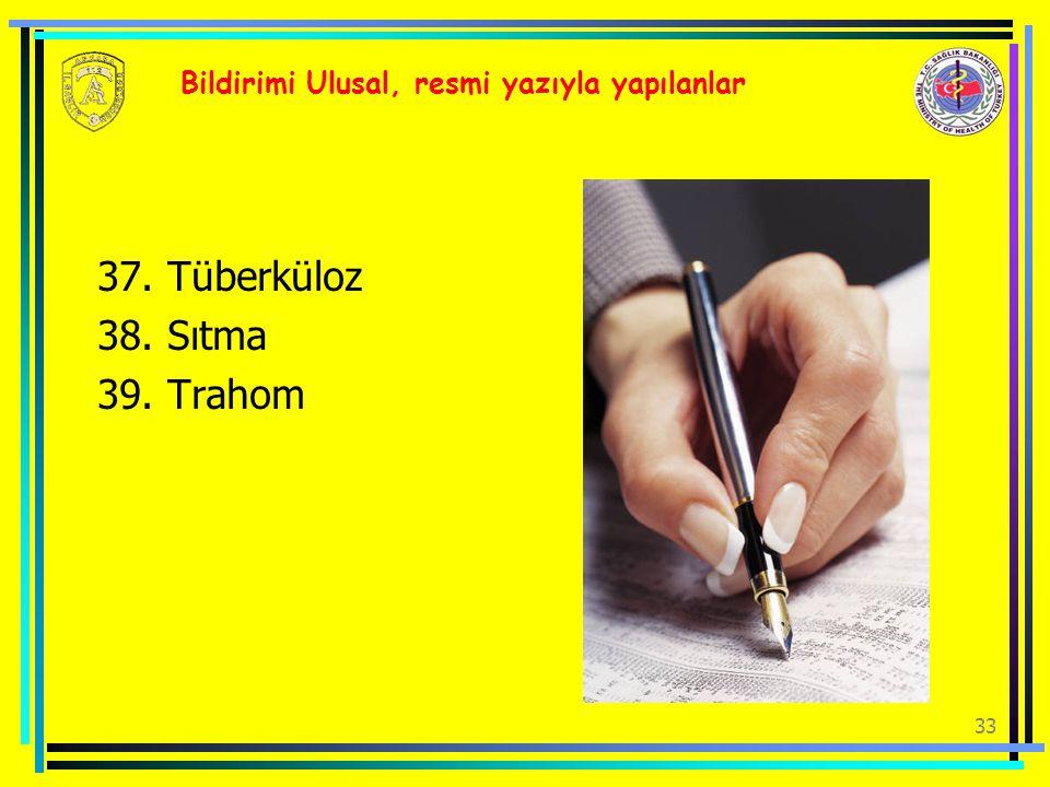 Bildirimi Ulusal, resmi yazıyla yapılanlar