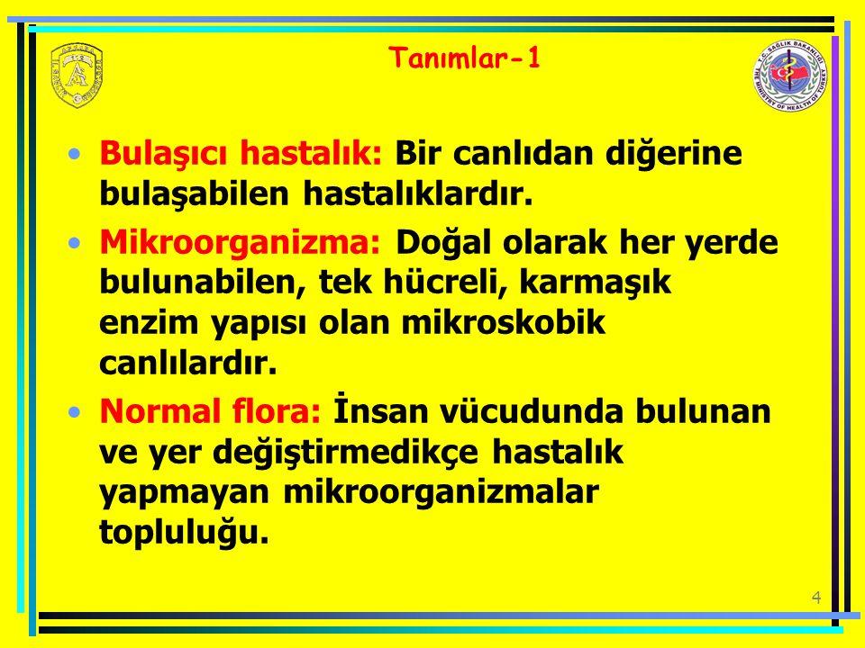 Bulaşıcı hastalık: Bir canlıdan diğerine bulaşabilen hastalıklardır.