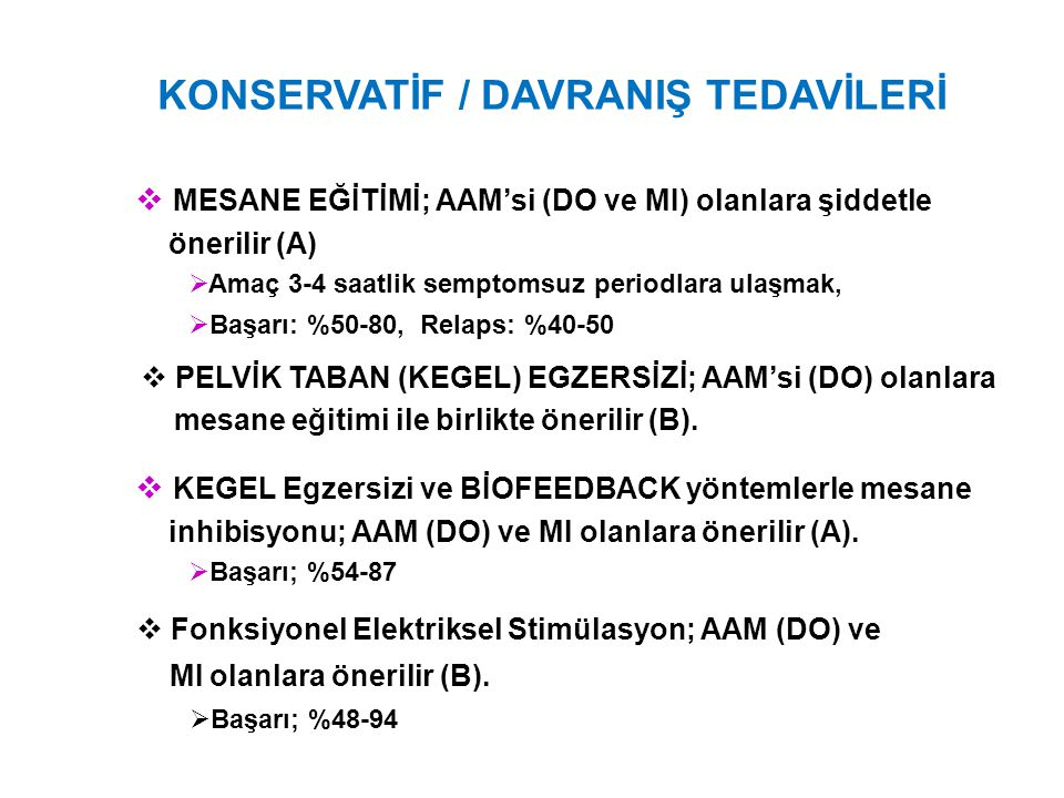 KONSERVATİF / DAVRANIŞ TEDAVİLERİ