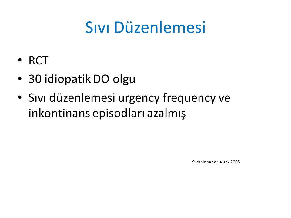 Sıvı Düzenlemesi RCT 30 idiopatik DO olgu
