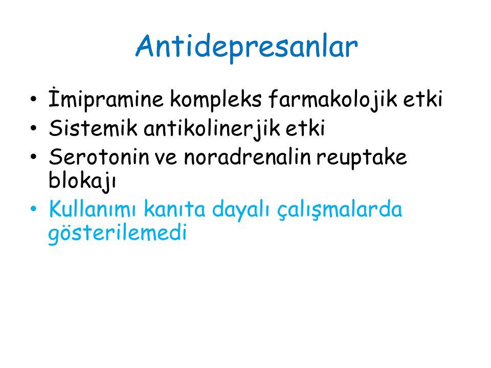 Antidepresanlar İmipramine kompleks farmakolojik etki