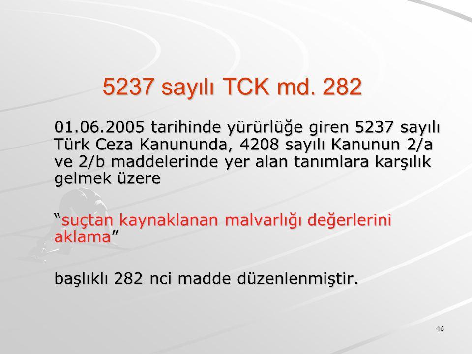 5237 sayılı TCK md. 282
