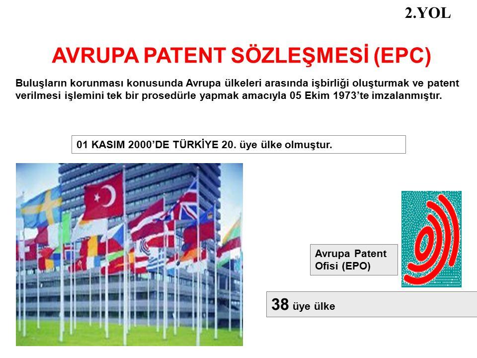 AVRUPA PATENT SÖZLEŞMESİ (EPC)