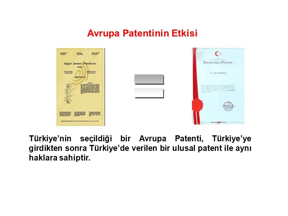 Avrupa Patentinin Etkisi