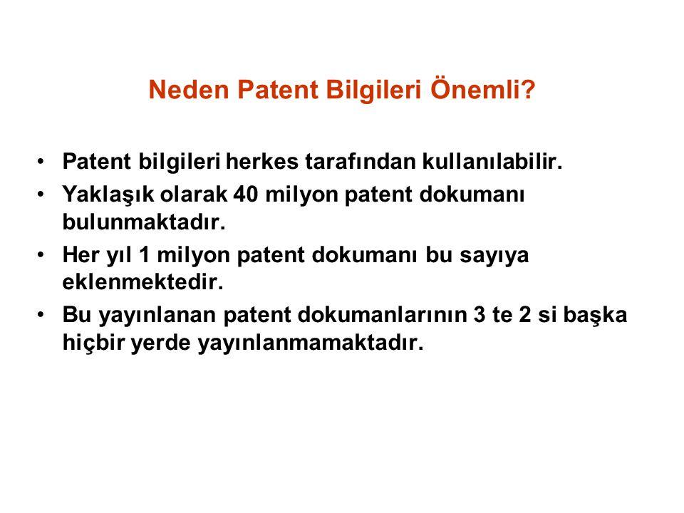 Neden Patent Bilgileri Önemli